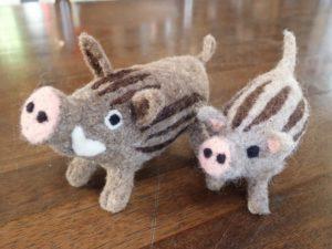 【川根本町】申込締切11/28(水)!羊毛フェルトのワークショップ 自分だけの猪を作ろう!