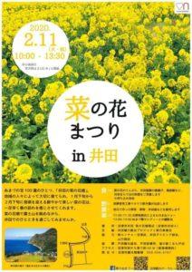 【沼津市】2/11 (火祝)「菜の花まつり in 井田」開催!